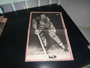 Oakland Seals vintage carol vadnais # 5 black & white poster very rare hockey