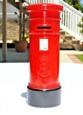 British Post Office Royal Mail Red Coin Bank Metal Crown Logo Euc