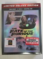 Fate Of The Furious Ltd Deluxe Edition w/ Exclusive Cinch Bag Blu-Ray DVD NEW