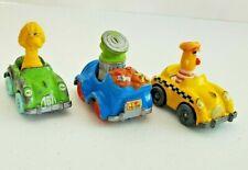 Vintage ~ LOT of 3 Sesame Street Die-Cast Cars ~1981-87