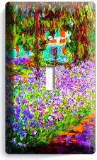 Irises Garden Claude Monet Painting 1 Gang Lightswitch Wall Plate Room Art Decor