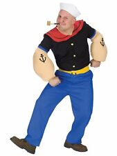 Fun World Popeye the Sailor Costume Cartoon Funny, One Standard Adult Size NEW