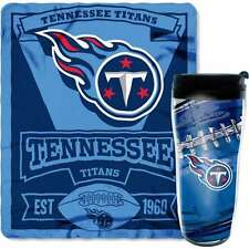 Tennessee Titans Mug and Snug Fleece Blanket and Tumbler Gift Set