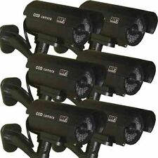 6 x Dummy Security Camera Fake LEDs Flashing Light Home Surveillance Waterproof