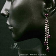 Ohrhänger mit 4 Swarovski Kristallen Farbe: Amethyst