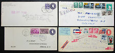 Postal History Set of 4 US Covers Letters Stamps GS ZuF Lupo USA Briefe (H-8224+