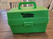 1975 vtg Illustrated Wildlife Treasury Cards W/ Carry Case over 350 Animal Facts