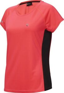 Ridge Women's Short Sleeve Cycling Fitness Tech T-Shirt - 8 - Cycling Pink/Black