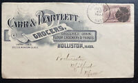 1893 Holliston MA USA Advertising Cover To Milford Carr & Bartlett Grocers