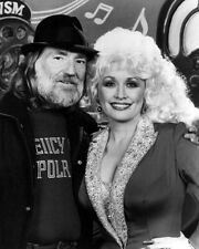 Singers WILLIE NELSON & DOLLY PARTON Glossy 8x10 Photo Country Music Poster