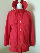 Dannimac Premium Outerwear Coat Womens Red Lightly padded Jacket Size 18