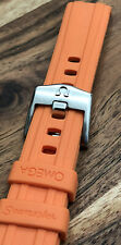 OMEGA NEW ORANGE SEAMASTER 42MM 300 WATCH STRAP RUBBER 20MM MENS ENGRAVED BUCKLE