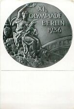 CARD IMAGE : MEDAL RECTO MEDAILLE JEUX OLYMPIQUES OLYMPIC GAMES 1936