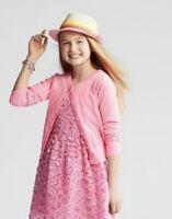Girls' Long Sleeve Cardigan Sweater - Cat & Jack™ Pink Size Medium
