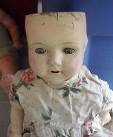 "Vintage 1920s Effanbee Walk Talk Sleep Composition Cloth Rosemary Girl Doll 18"""