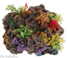 Ventosa montaje Arrecife De Coral De Peces De Acuario Cueva Adorno Decoración