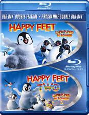 Happy Feet 1 & Happy Feet 2 (Blu-ray Disc, 2013, 2-Disc Set) 2 Movies