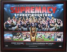 Sydney Roosters 2013 Premiership Ltd.Ed. NRL Premiers Print Framed Minichiello