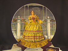 MELANIE Gone with the Wind Knowles Collector's Plate Collection Box & COA #K3_2