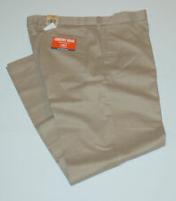 New mens Dockers Classic Flat Front D3 Dress Pants 32 30 khaki