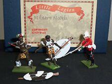 LITTLE LEGION Z/68 ZULU WAR BRITISH 24TH FOOT ATTACKING WARRIORS TOY SOLDIER SET
