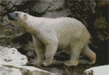 "Polar Bear Counted Cross Stitch Kit 11"" x 7.75"" 27.9cm x 19.4cm"