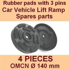 SET OF 4 PADS for OMCN 2 Post Car Lift Ramp Rubber Pads +3 pins - 140mm - ITALY