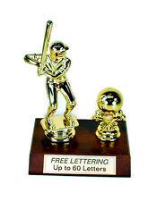 Trophy Baseball Male Fantasy Award Free Lettering- Team