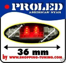 2x ampoule 4 led 36mm,plafonnier,éclaire plaque Rouge