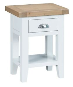 CANTERBURY WHITE PAINTED OAK SIDE TABLE / END STAND / SOFA TABLE / SMALL TABLE