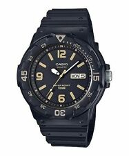 Casio MRW200H-1B3V, Analog Watch, Black Resin Band, Day/Date, 100 Meter WR