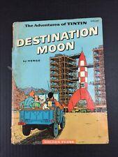 Herge Adventures of Tintin Destination Moon 1st GOLDEN PRESS Edition 1960 HC