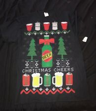 Christmas Beer Pong - Red Cup, Graphic T-Shirt - Men's Medium New w/ Tags (M15)
