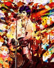 Prince Pop Print, Prince Painting, Splatter Art