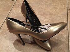 NEW Womens Gold High Heels - Size 12 Ladies Stilettos - Metallic Shoes