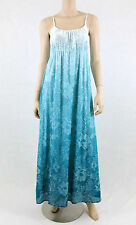 Chelsea & Theodore Summer Dress Full-Length Empire Waist Spadhetti Strap Blue M