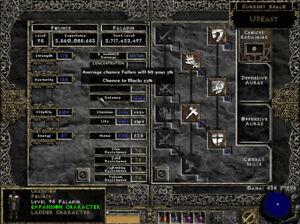Diablo 2 US EAST Ladder 95 Paladin - Enigma HOTO HoZ Shako CTA Anni Efort Torch+