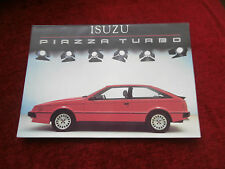 ISUZU PIAZZA TURBO BROCHURE.  In uncirculated condition..