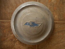 Chevy Chevrolet 1950's ? Blue Emblem Dish Vintage Hubcap  AS IS Used Abused