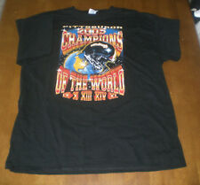 2005 STEELERS SUPERBOWL CHAMPIONS OF THE WORLD BLACK T-SHIRT  MED - L - XL - XXL
