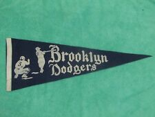 1940's BROOKLYN DODGERS VINTAGE  FULL SIZE PENNANT 11 x 28 *RARE*