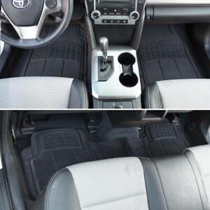 Semi-Custom Heavy Duty 3 PC Black Rubber Floor Mats Fits Jeep Cherokee