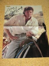Baywatch/Knight Rider DAVID HASSELHOFF Originalautogramm GARANTIERT Poster DINA3