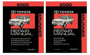 2000 Toyota 4Runner Shop Service Repair Manual Book Engine Drivetrain OEM