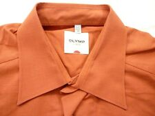 E7997 Olymp Luxor Businesshemd Kombimanschette 39 orange meliert Unifarben Neuw.
