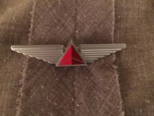 NEW RED DELTA LOGO AIRLINES JR PILOT WINGS PIN PINBACK PLASTIC