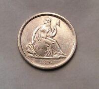 1837 Seated Liberty Dime No Stars - Key Date #10478