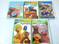 Sesame Street DVD Lot of 5 Learning Numbers Teaching Sports Elmo Big Bird Sealed