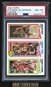 1980-81 Topps Basketball Magic Johnson Rookie RC PSA 8 NM-MT