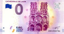 02 LAON Cathédrale, N° de la 8ème liasse, 2018, Billet 0 € Souvenir